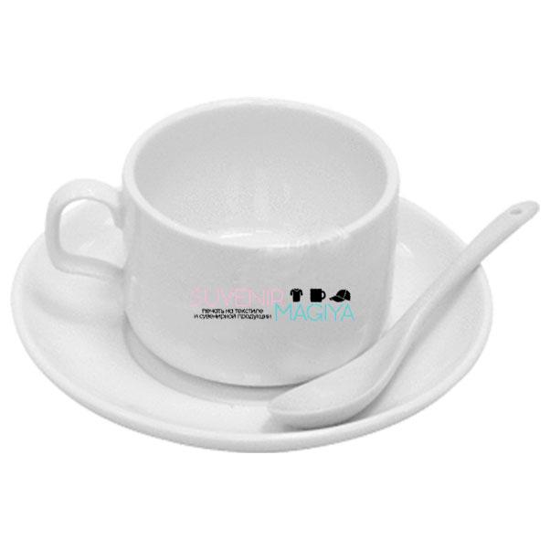Набор кофейный с принтом